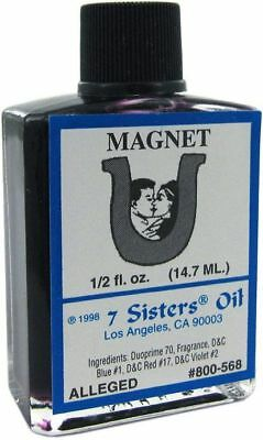 MAGNET Ritual Oil Spell Wicca PAGAN Witchcraft 1/2 OZ Business Luck Money LOVE