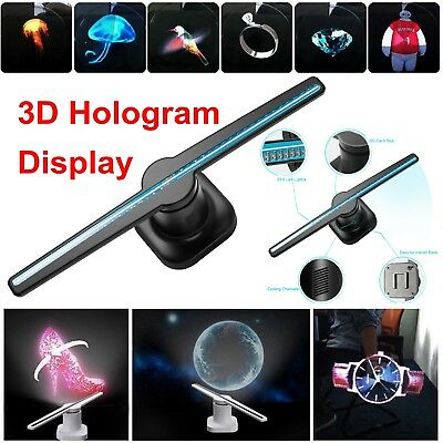42cm 3D Holographic Projector Display Fan LED Hologram Player Lamp Advertising