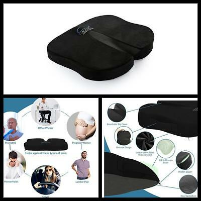 Coccyx Sciatica Relief Ventilated Memory Foam Seat Cushion For Back Pain relief