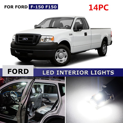 14PC White Interior LED Lights Package Kit for 2004-2008 Ford F-150 F150 A