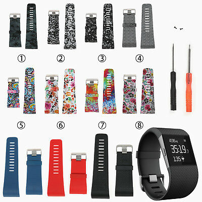 Replacement Silicone Wristband Watch Band Strap Bracelet for Fitbit Surge Watch