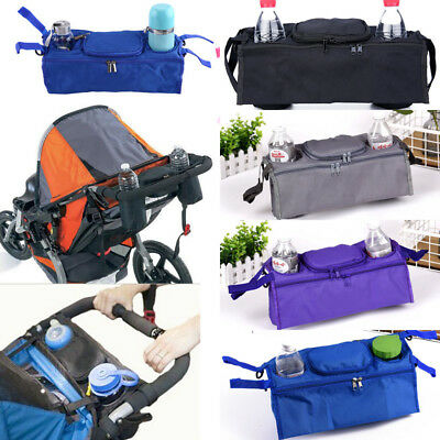 Pram Pushchair Stroller Baby Buggy Cup Bottle Drink Bag Organiser Holder Storage