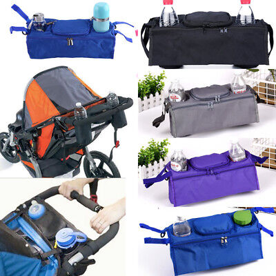 UK Pushchair Pram Stroller Accessory Buggy Cup Bottle Holder Organiser Mummy Bag