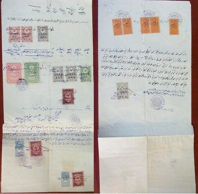 Syria 1924 Document Hedjaz TAA Ottoman Deed Revenue Ovpt Alaouites Territories