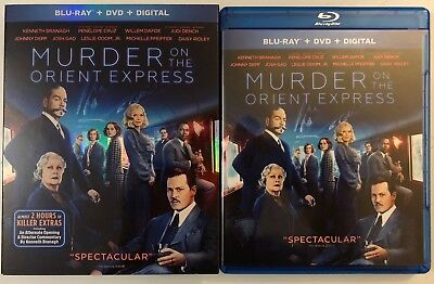 Murder On The Orient Express Blu Ray Dvd 2 Disc Set + Slipcover Sleeve Free Ship