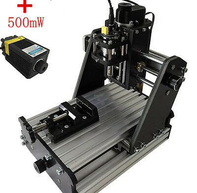 CNC Mini Milling Engraving Machine 3 Axis Carving DIY Engraver +500mW laser head