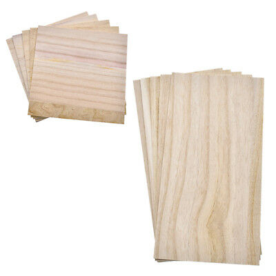 5/10 Pcs 2mm Wooden Plate Model Paulownia Woodworking Timber Home Crafts Art