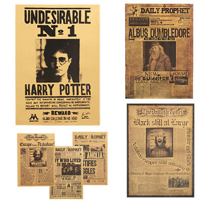 Harry Potter Poster Bar Wall Stickers Daily Prophet Decorative Paintings 42X30cm