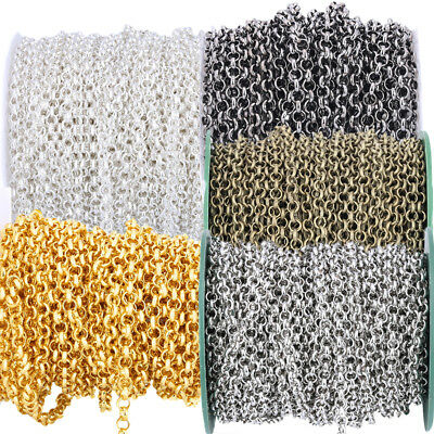 10M Fashion Cable Open Link Metal O Chain Jewelry DIY Making Findings 3.2MM Hot