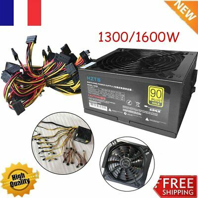 1300~2350W Power Supply For 6GPU Eth Rig Ethereum Coin Miner Dedicated LOT fx