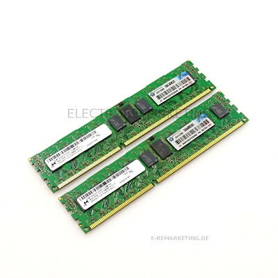 8GB 2x4GB 1Rx4 PC3-10600R Micron Server Speicher HP PN: 59750-371