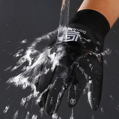 Men's Winter Warm Gloves Black Touch Screen Windproof Waterproof Outdoor Sport
