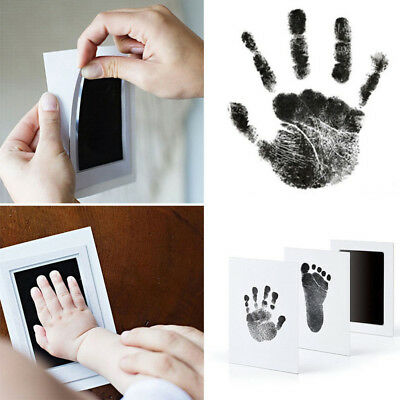 Baby Inkless Touch Footprint Handprint Ink Pad Mess Free Record Commemorate Hot