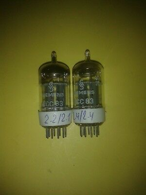 matched pair ECC83 / 12AX7 SIEMENS 1st category , see text
