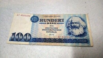 Germany (DDR) 100 Mark 1975 banknote