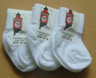 baby white socks 3 0r 6 paiars premature-12-24 months