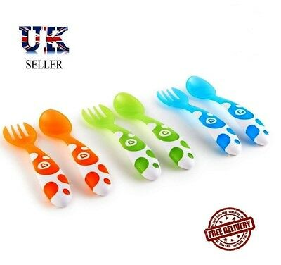 Munchkin Forks And Spoons - Multi-Coloured, Pack Of 6 FREE P+P RRP £14.99