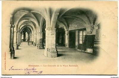 CPA - Carte postale -France - Montauban -Les Couverts de la Place Nationale 1902