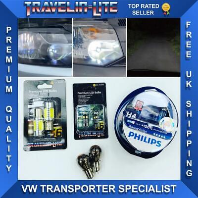 VW T6 Transporter Upgraded Headlight Bulbs Philips Racing Vision Brand New