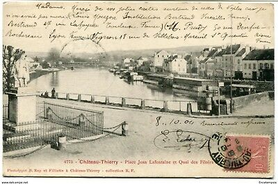 CPA - Carte postale -France - Chateau Thierry - Place Jean Lafontaine 1904