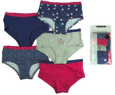 Girls PACK OF 5 Dream Gazer Hipster Briefs Knickers Cotton Pants 4 to 15 Years