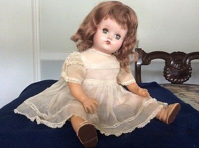 """Vintage 1930s Alexander 16"""" Baby Doll Composition Rubber Cloth Stuffed Body"""