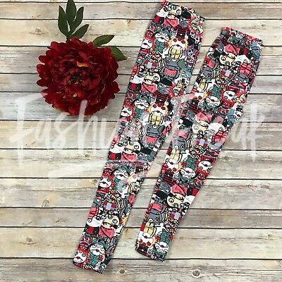Little Monsters Leggings Brushed Vampires Ghoul Zombies KID SIZE S/M L/XL