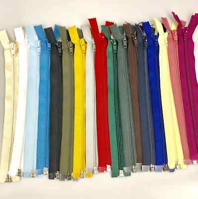 "10"" - 26"" Open Ended Nylon Zips No5 - 9 Sizes & 27 Colours For Sewing & Crafts"