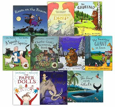 New Julia Donaldson Picture Books 11 Books Collection Set,With Bag,The Gruffalo