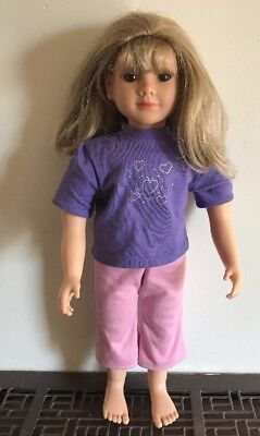 "My Twinn Doll Blonde Hair Brown Eyes 22"" Poseable 2008 Dolls Twin"