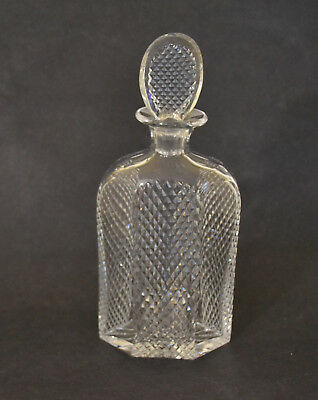 Early Signed Brierley Cut Glass Decanter With Flat Stopper