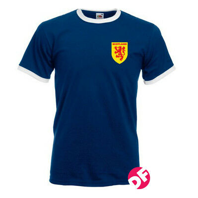 Retro styled Scotland Football World Cup 70s styled T-shirt Nostalgic Shirt NEW