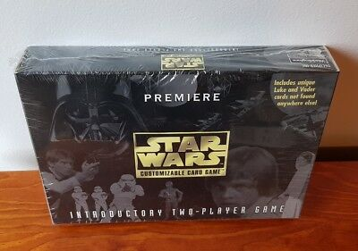 New Sealed 1996 Premiere Star Wars Customizable Card Game Includes Unique Cards