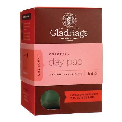 NEW GladRags Menstrual Colorful Day Cotton Pads 3-Pack Washable Reusable