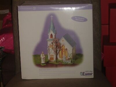 Dept 56 ~ Easter ~ Happy Easter Church (3 Pieces) ~ The Original Snow Village