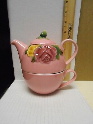 Royal Albert  Country Rose Tea For One ~ Teapot, Cup and Saucer ~