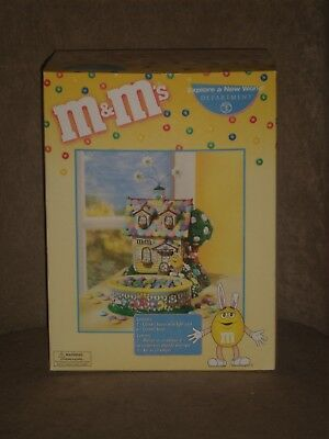 DEPT 56 ~ EASTER ~ M & M's EASTER BUNNY HOUSE (2 PIECES)