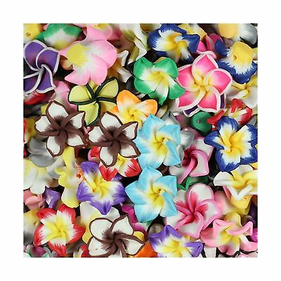 RUBYCA Mix Polymer Fimo Clay 5-leaves Flower Spacer Loose Beads 15mm for DIY ...