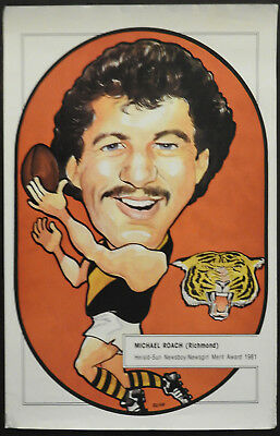1981 Herald Sun Michael Roach Richmond Tigers Newsboy Newsgirl Merit Award