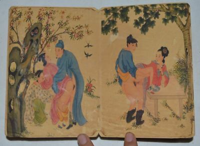 """CHINA OLD ALBUM FLODING BOOK""""Couples Story""""FOLK TRADITIONAL PAINTING 26"""