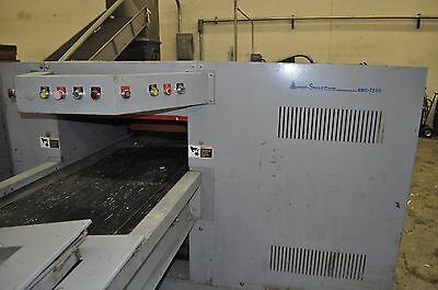 Ameri-Shred AMS 7500 industrial 75HP PAPER SHREDDER & input output CONVEYOR