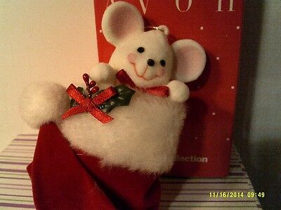 RARE VINTAGE 1980'S Avon PEEK-A-BOO MOUSE Ornament-NEW IN BOX-FREE SHIPPING