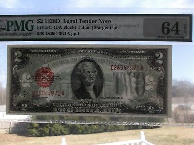 1928D  $2  Choice Uncirculated!  United States  PMG