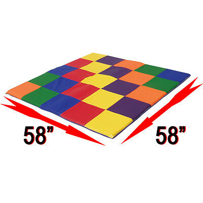 "Toddler Mat 58"" by 58"" Primary Colors Pro Daycare Soft Vinyl Baby Kids Children"