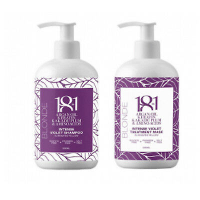 18 in 1 Blonde Intense Violet Shampoo & Mask 500ml Duo -Sulfate and Paraben Free