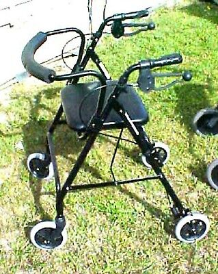 Handicap Walker Wheel Rollator Chair Seat Back Support Walking Push Mobility