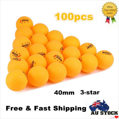 100 x 40mm Olympic Table Tennis Ball Competition Ping Pong Balls Orange
