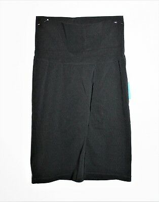 Maternity Plus Brand Black Stretch Pull On Skirt Size 8 BNWT #TK111