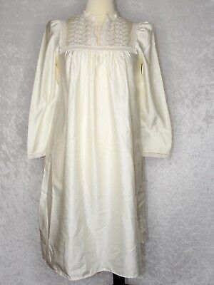Christian Dior Lingerie Vintage Victorian Long Night Gown Ivory