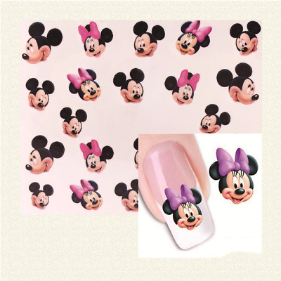 Disney Mickey Mouse Nail Art Stickers Disney Decals 3D Water Nail Stamping